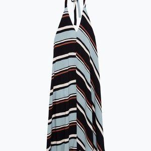 ZARA blue/black striped dress